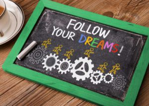 career coaching to follow your dreams - inspirational image