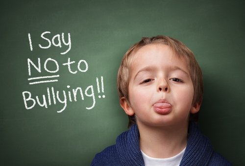 assertive child saying no to bullying